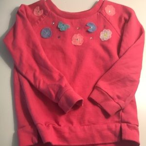 Girls flower sweatshirt